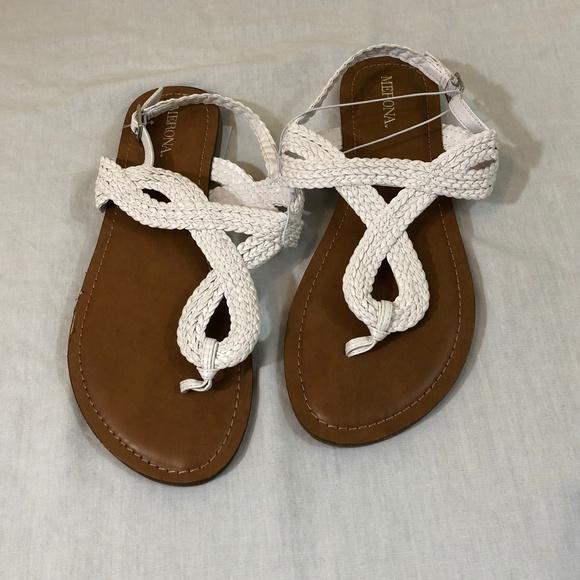 c9b566aa2953 Merona White Braided Sandals